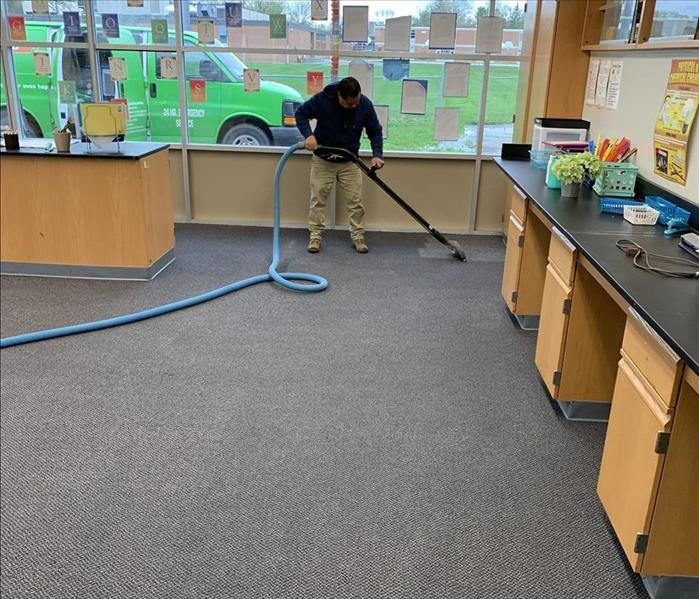 Beverly Hills, MI - Private School - Water Mitigation Before