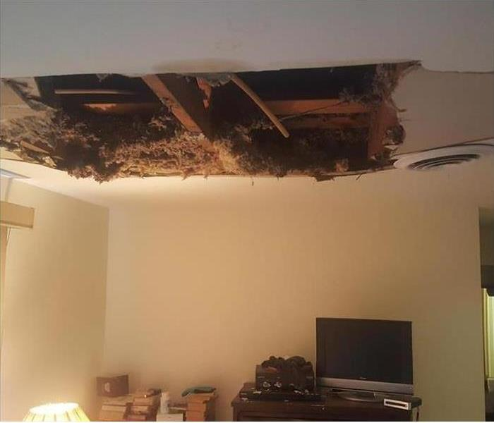 Ceiling Fell Through Because Of Bad AC Unit