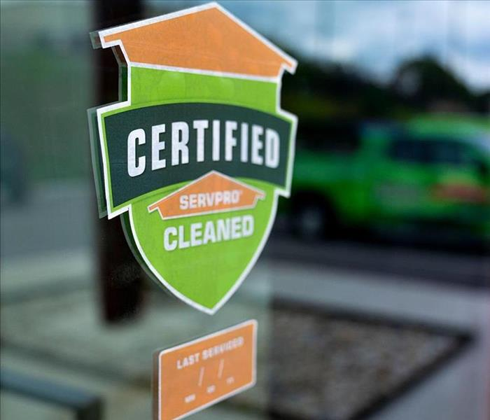 A Logo That Shows It's Certified: SERVPRO Cleaned